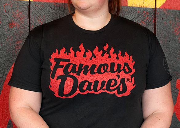 Famous Dave's server shirts