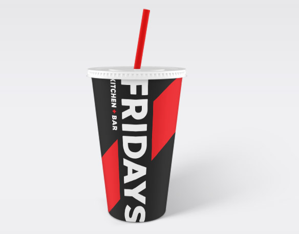 Fridays to go cup